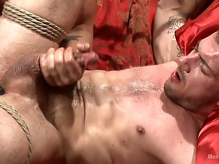 Gay lovers love to spend their night tied up and ass fucked