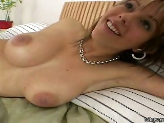 Girl with Amazing Big Pair of Boobs Masturbating with Toy