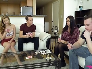 Talkative beauty Carolina Sweets lures dude of her roommate for random sex