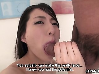 Naughty Japanese girlfriend Yuuki Fuwari wanna be poked missionary