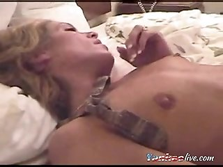 Hot Cuckold wife fucked and cleaned
