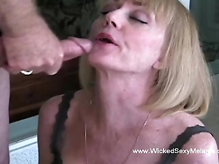 Wicked Sexy Melanie giving a really classy blowjob here