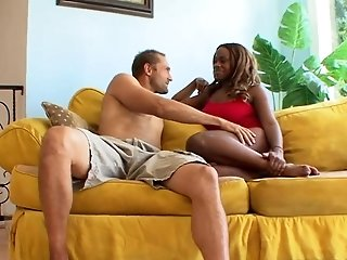 Ebony Tori Taylor Spreads for White Cock