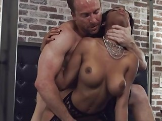 PORNFIDELITY Ebony Big Tit Babe Brittney White Creampied