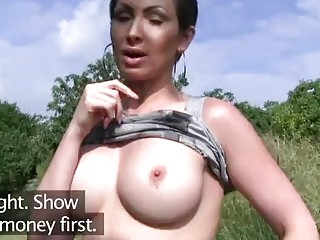 PublicAgent Stranded Auzzie with big tits fucks for money