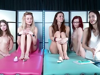 Leila and her naughty friends finally get to masturbate together