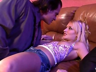 Teen blonde babe Mallory Rae Murphy bent over for a doggy fuck