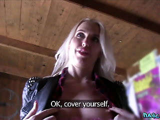 POV video of blonde Lexi Lou with nice ass getting fucked by a stranger