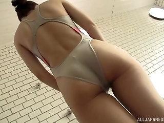 Nice sex video between sexy Rina Yoshiguchi and a lucky guy