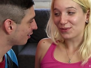 Blonde babe Sindy Rako picked up on the street and bent over to fuck