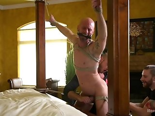Mitch Vaughn loves everything about strong orgasm and gay BDSM