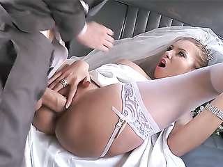 Sexy bride with great boobs fucking fantasy